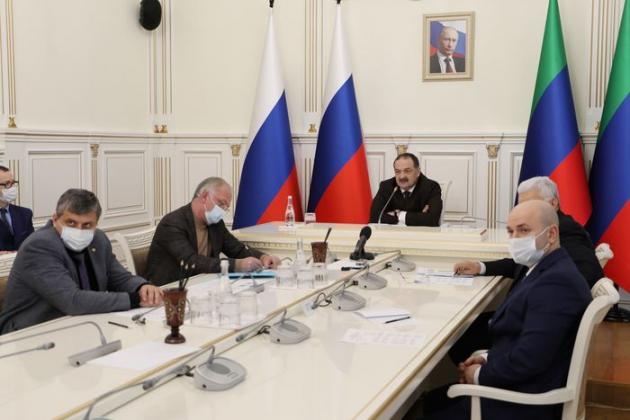 Врио Главы Дагестана Сергей Меликов провел первое в этом году заседание республиканского Оперштаба по борьбе с коронавирусом