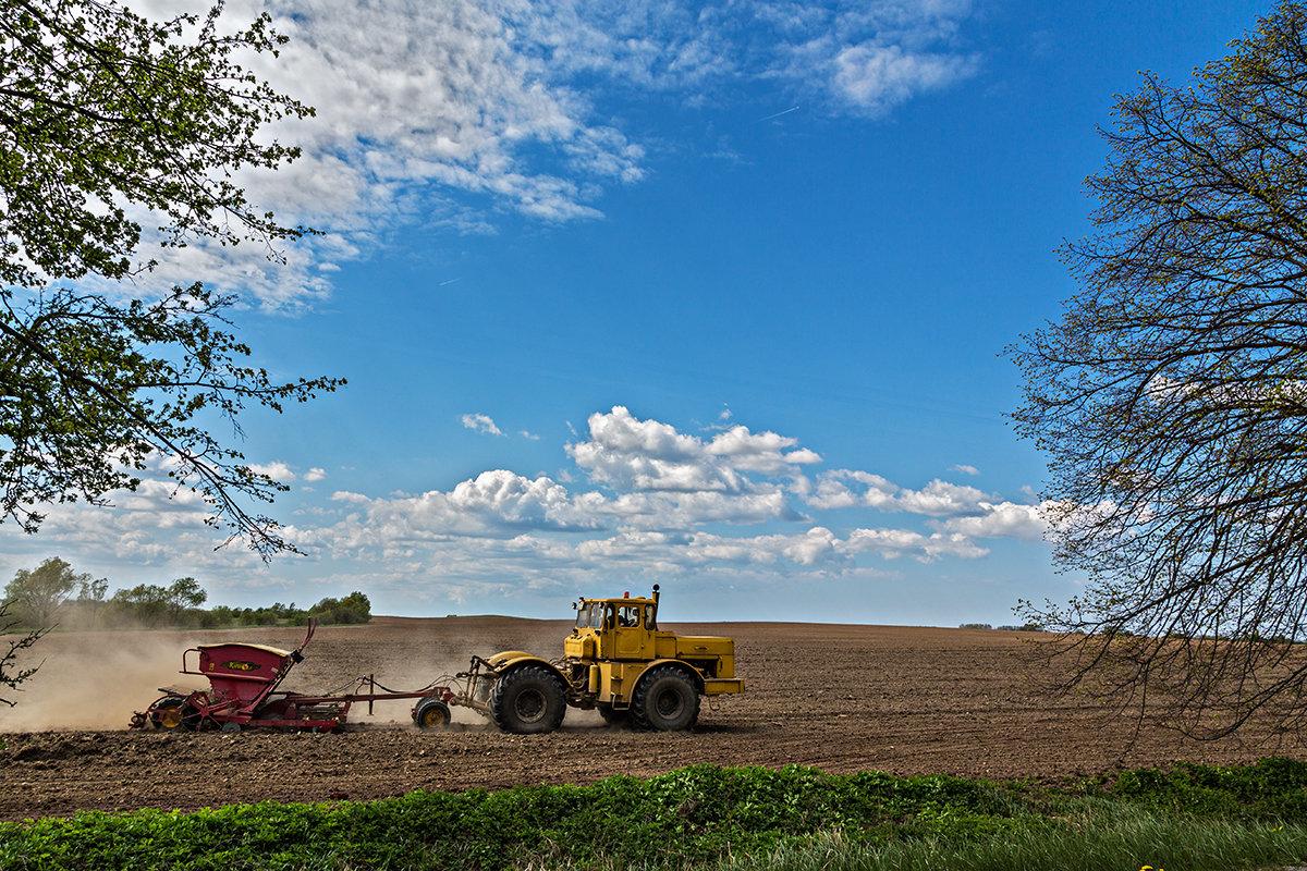 Обзор  сезонных полевых работ в России